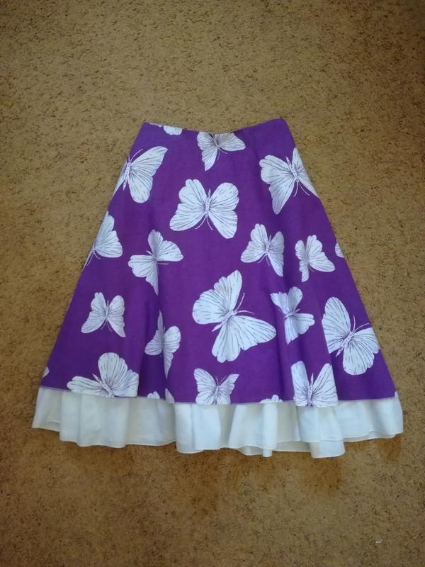 Porto velho юбка пооусолнце миди с бабочками
