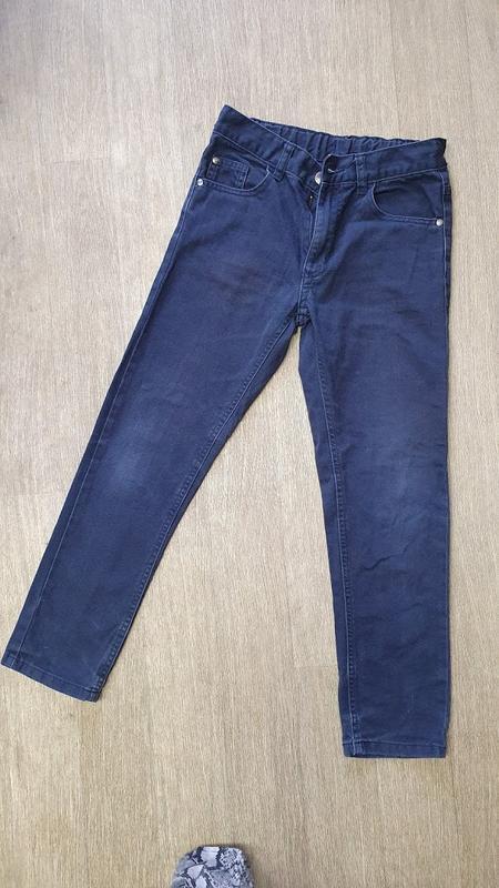 Синие джинсы george на мальчика 9-10 лет. рост 135-140 см.