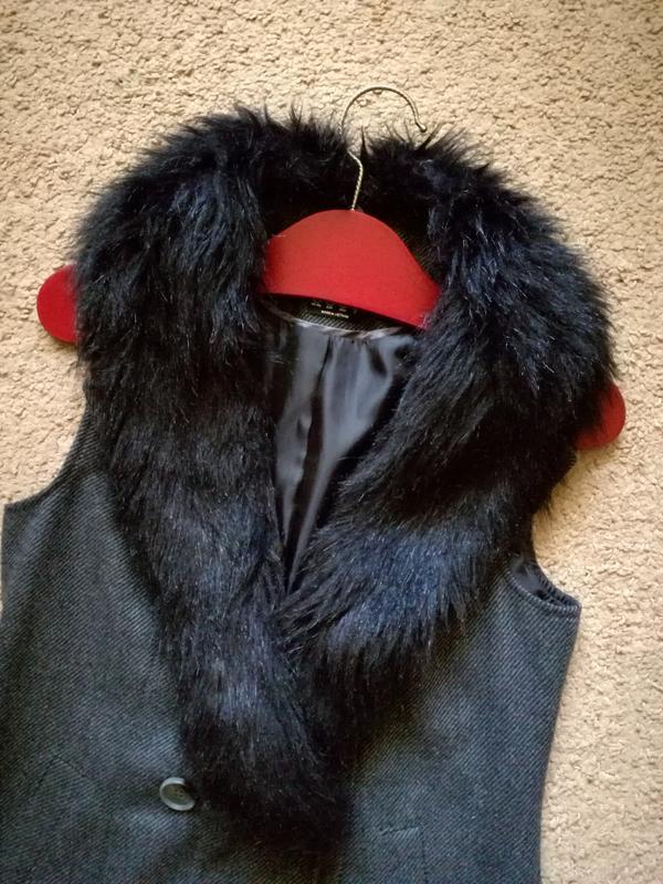 Жилет пальто тренч двубортный длинный