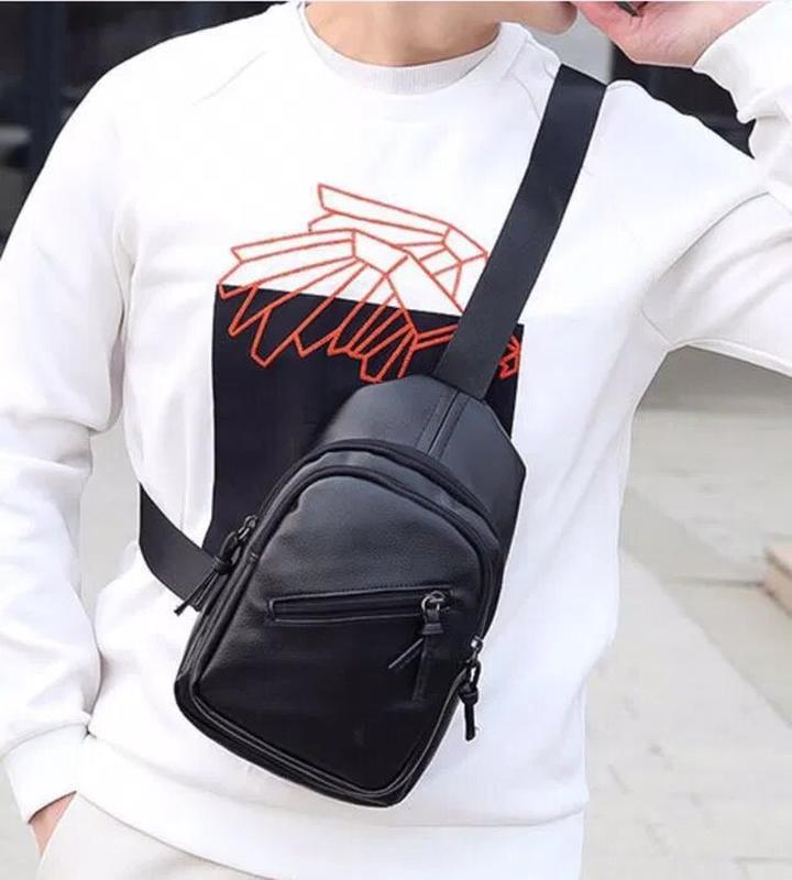 Рюкзак мужской эко кожа - Фото 4