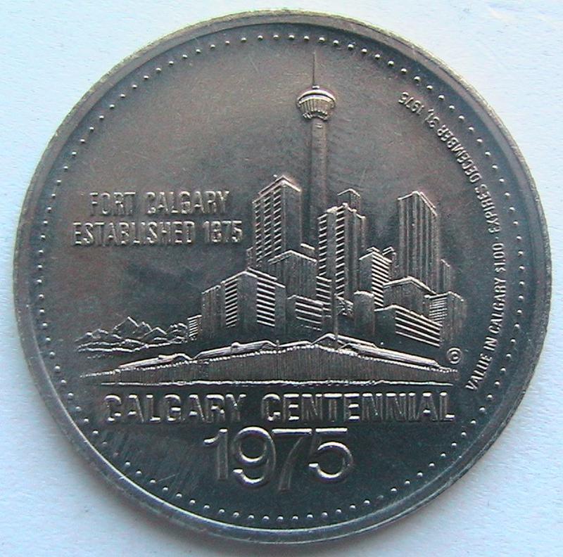 Канада 1 доллар 1975 Калгари токен