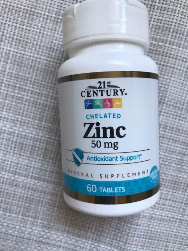 21st Century, Цинк , Хелат Цинка , цинк 50 mg , 60 шт