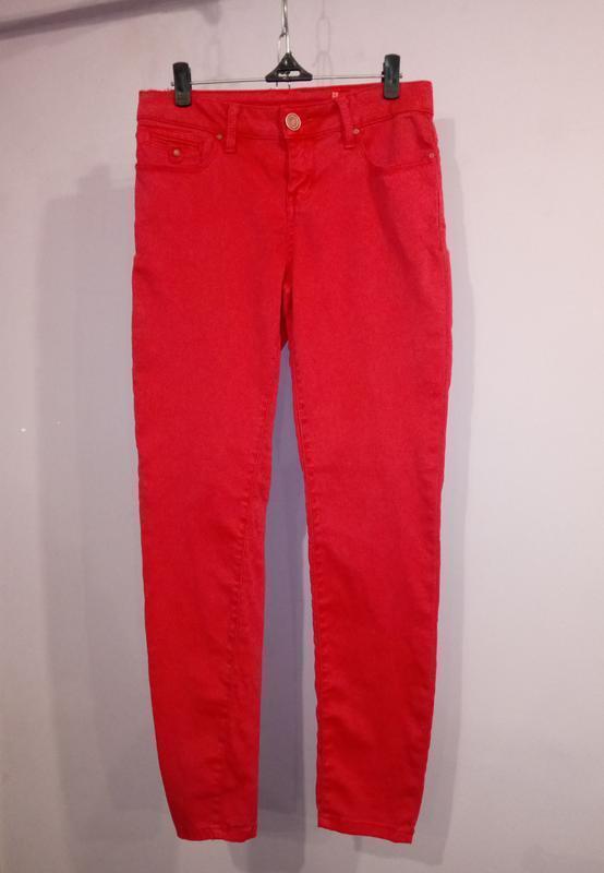 Розовые зауженные стрейчевый джинсы uk 8 / 36 / xs