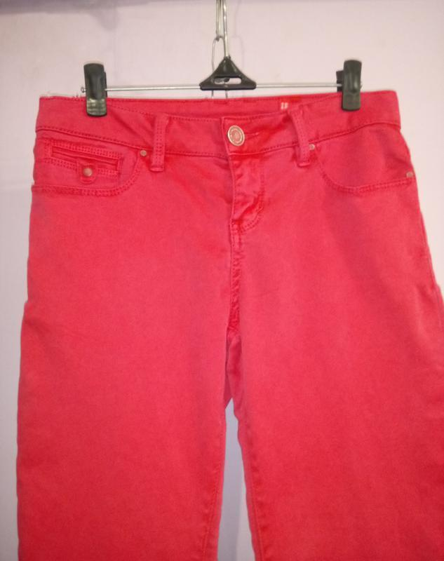 Розовые зауженные стрейчевый джинсы uk 8 / 36 / xs - Фото 2