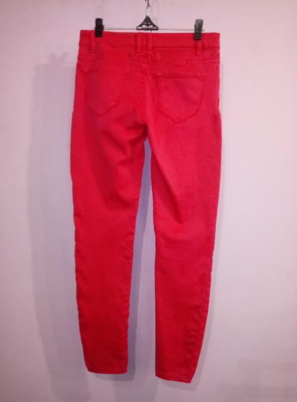 Розовые зауженные стрейчевый джинсы uk 8 / 36 / xs - Фото 3