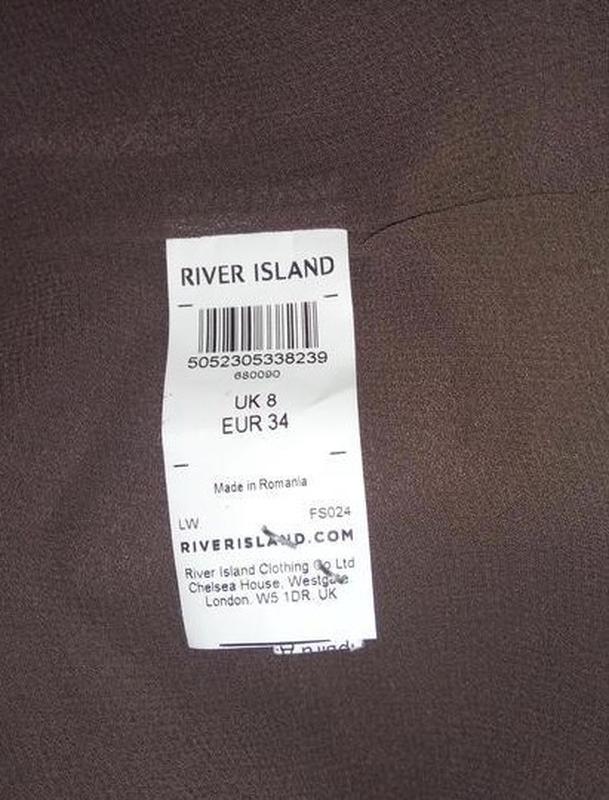 Красивая стильная блуза майка river island uk 8/36/xs - Фото 4