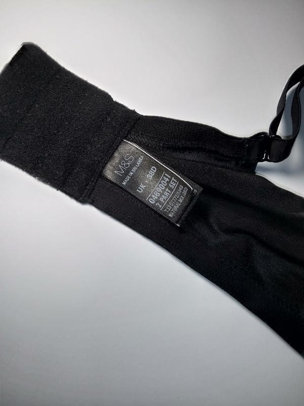 Черный бюстгальтер без поролона marks&spencer 85d 38d 85д 38д - Фото 4