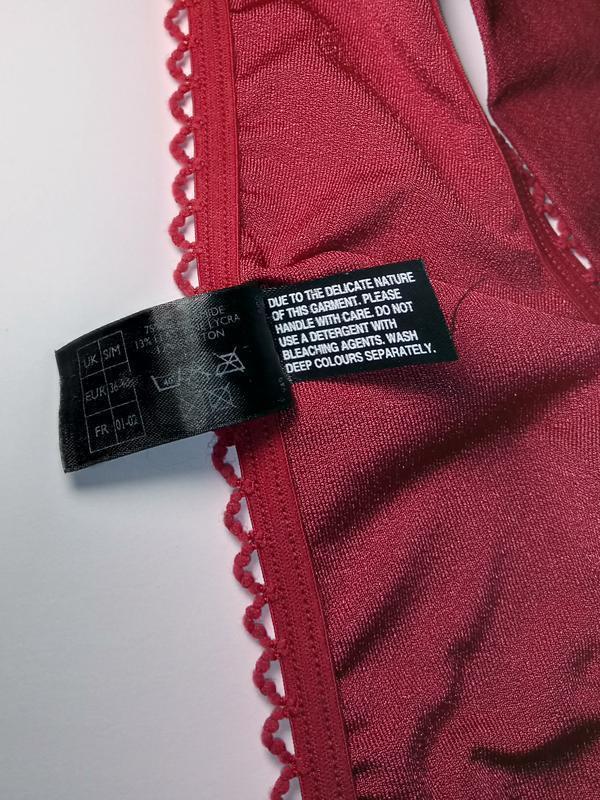 Красные сексуальные кружевные трусики стринги uk 10-12 / 38-40... - Фото 4