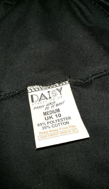 Модная черная туника блуза с вырезом на спине daisy street uk ... - Фото 8