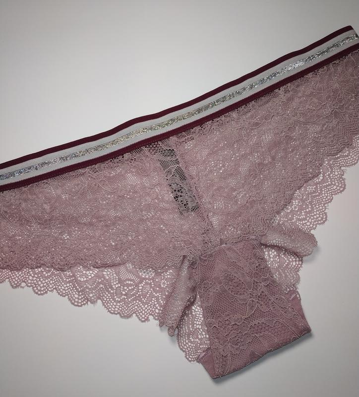 Сиреневые кружевные сексуальные трусики secret possessions uk ... - Фото 2