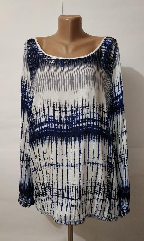 Натуральная стильная блуза красивой расцветки uk 14/42/l
