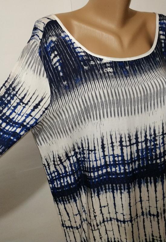 Натуральная стильная блуза красивой расцветки uk 14/42/l - Фото 2