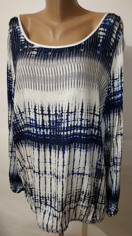 Натуральная стильная блуза красивой расцветки uk 14/42/l - Фото 3