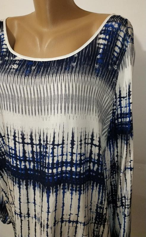 Натуральная стильная блуза красивой расцветки uk 14/42/l - Фото 4