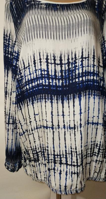 Натуральная стильная блуза красивой расцветки uk 14/42/l - Фото 5
