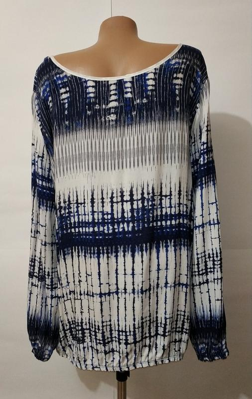 Натуральная стильная блуза красивой расцветки uk 14/42/l - Фото 6