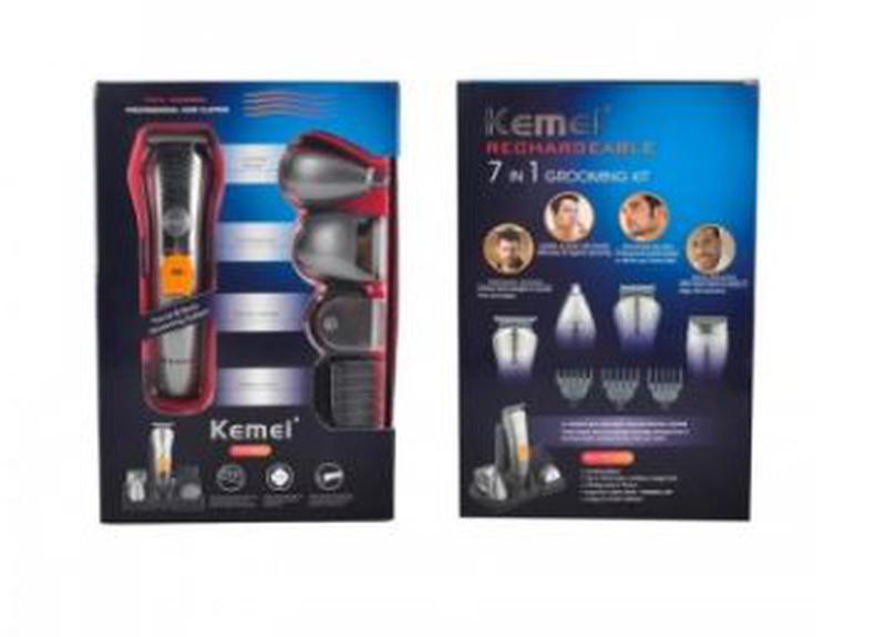 Машинка для стрижки волос и бороды 7 в 1 Kemei KM-580A триммер - Фото 6