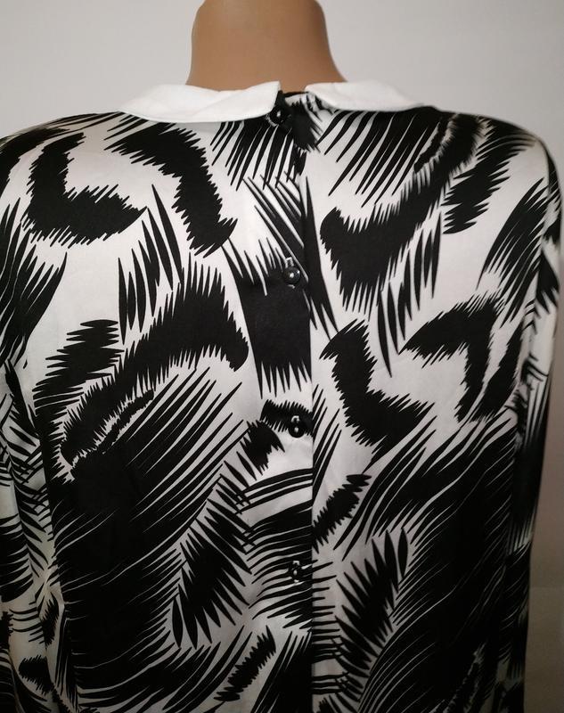 Стильное платье свободного кроя в тропический принт с карманам... - Фото 8