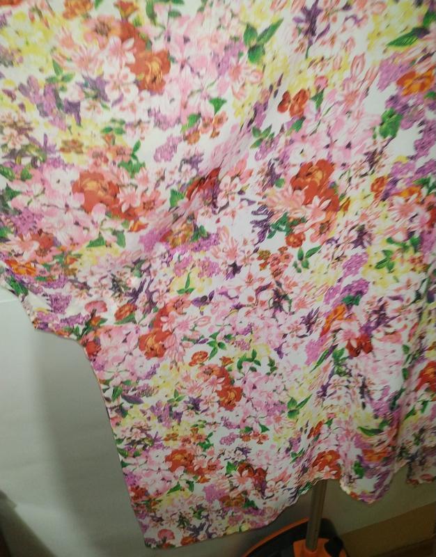 Цветочная блуза туника свободного кроя кимоно uk 12-14/40-42/m - Фото 6