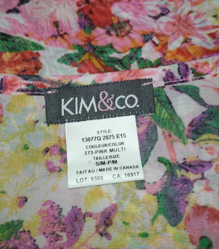 Цветочная блуза туника свободного кроя кимоно uk 12-14/40-42/m - Фото 8