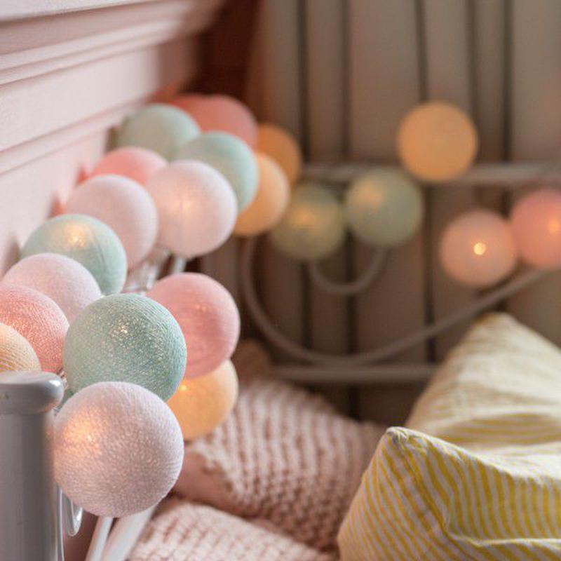 "Тайская LED-гирлянда ""Pastel"" (20 шариков) на батарейках - Фото 2"