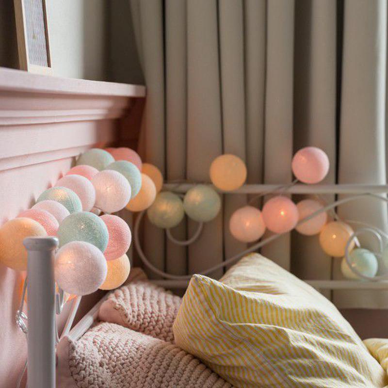 "Тайская LED-гирлянда ""Pastel"" (20 шариков) на батарейках - Фото 5"
