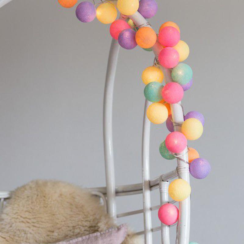 "Тайская LED-гирлянда ""Ice Cream"" (20 шариков) на батарейках - Фото 2"