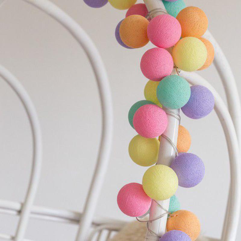 "Тайская LED-гирлянда ""Ice Cream"" (20 шариков) на батарейках - Фото 3"