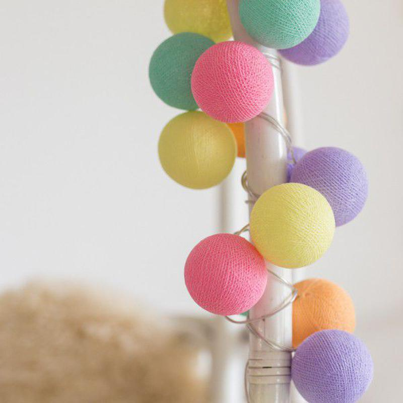 "Тайская LED-гирлянда ""Ice Cream"" (20 шариков) на батарейках - Фото 4"