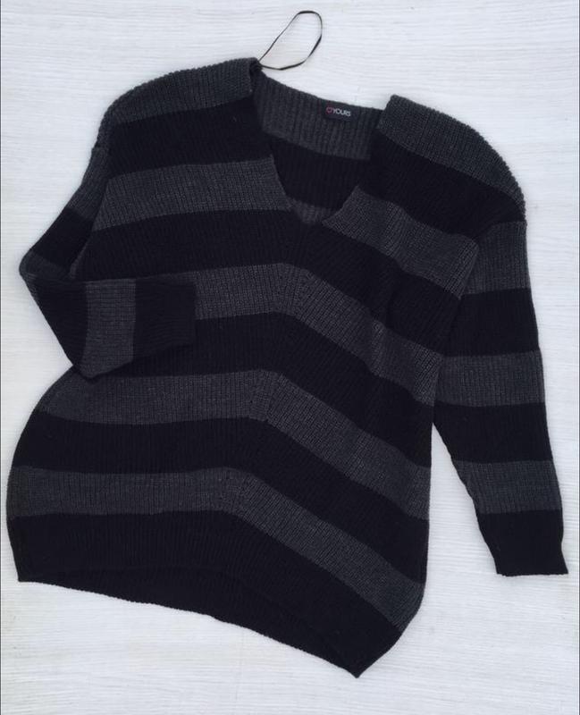Шикарный фирменный джемпер,свитер yours большого размера - Фото 3