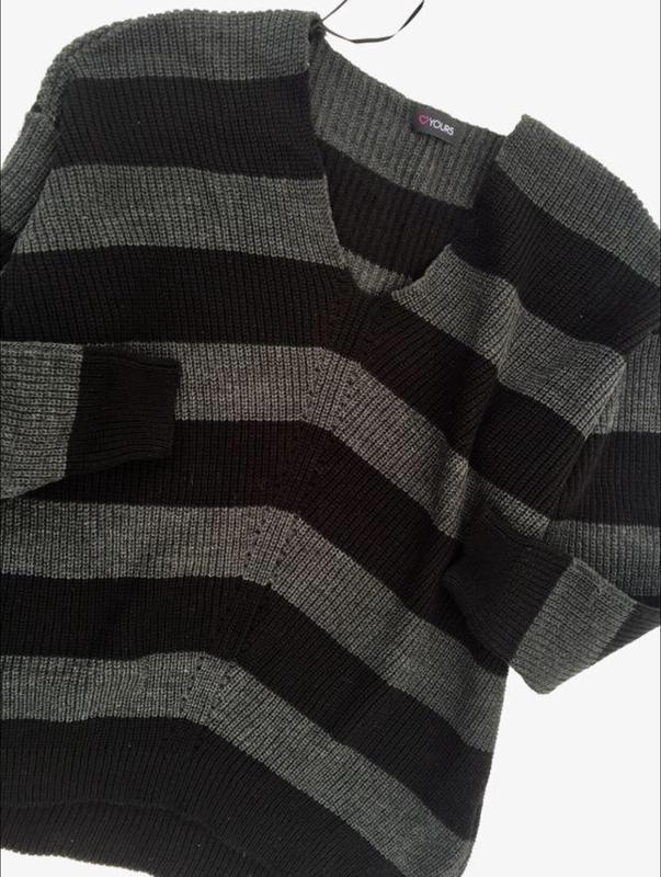 Шикарный фирменный джемпер,свитер yours большого размера - Фото 4