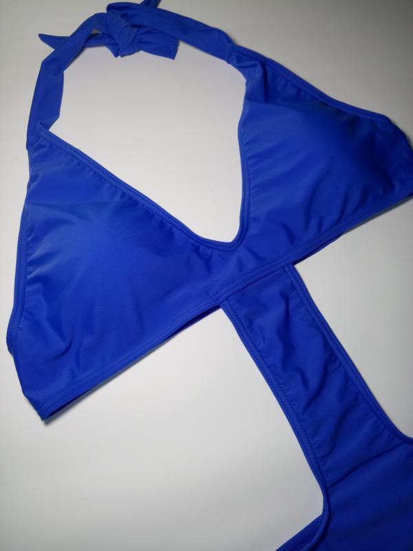 Синий ультрамодный купальник от известного бренда missguided u... - Фото 3