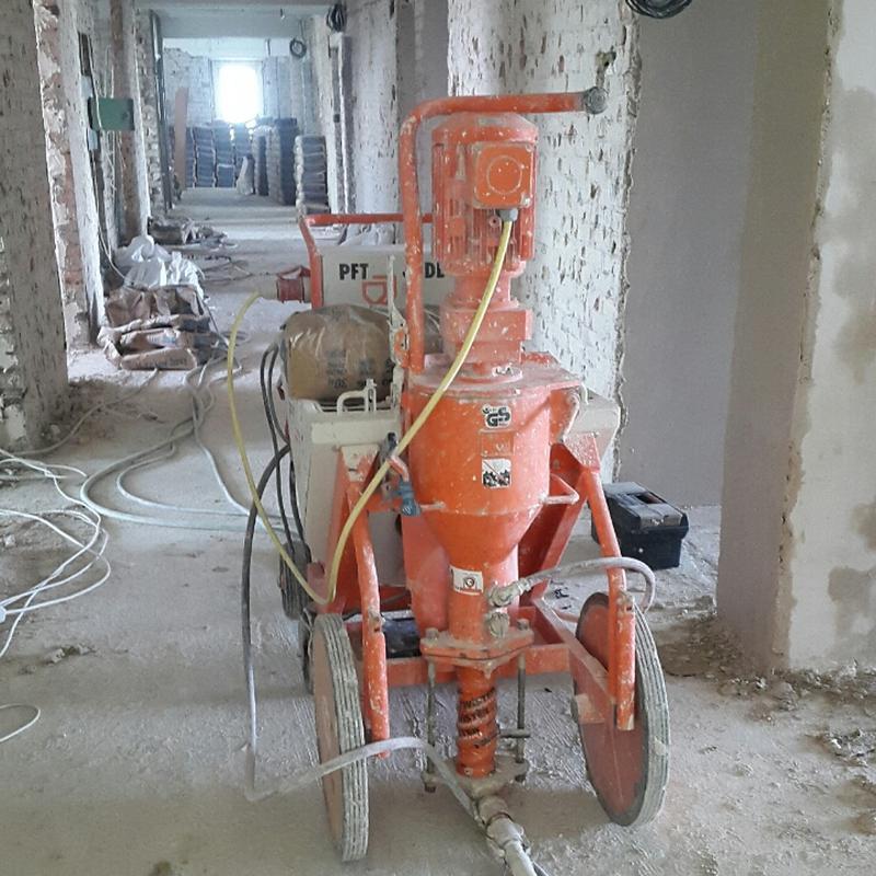 Штукатурка стен машинным способом 380v, Машинная штукатурка Ки...