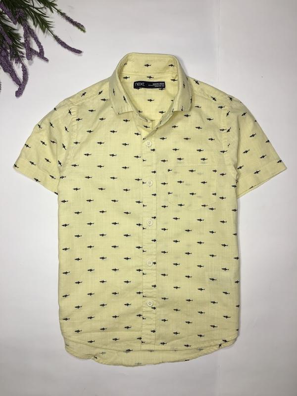 Стильная рубашка мальчику next, размер 110