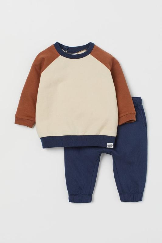 Трикотажный детский костюмчик - топ и брюки нм для мальчика
