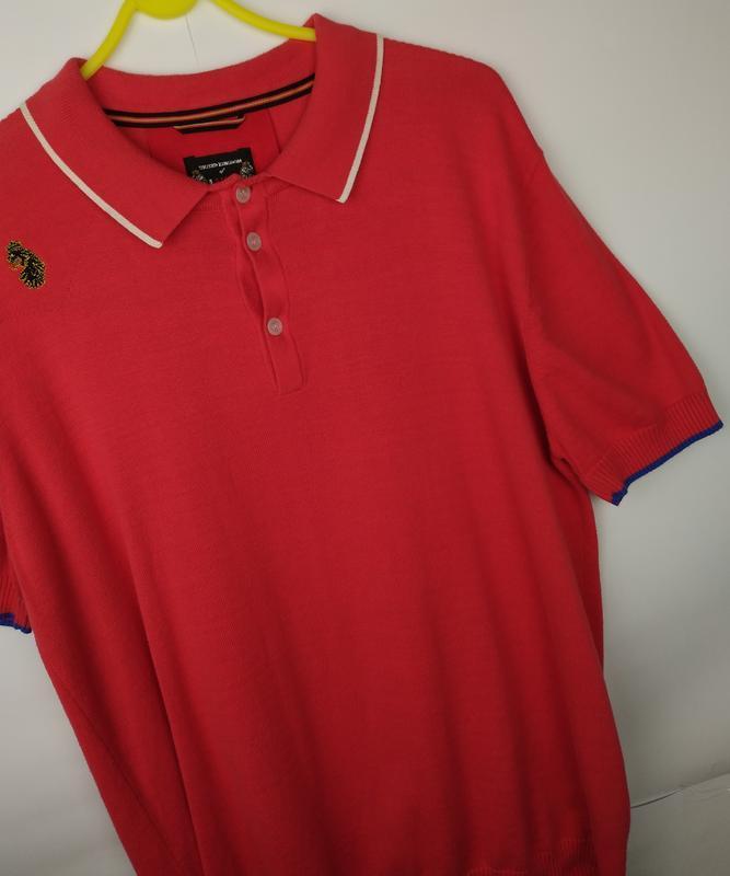 Хлопковая оригинальная трикотажная футболка luke размер xl - Фото 4