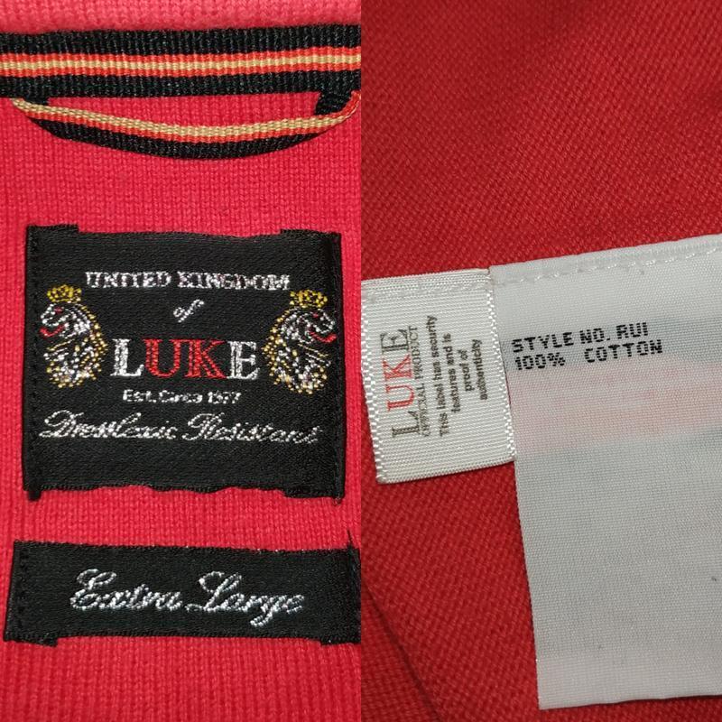 Хлопковая оригинальная трикотажная футболка luke размер xl - Фото 6