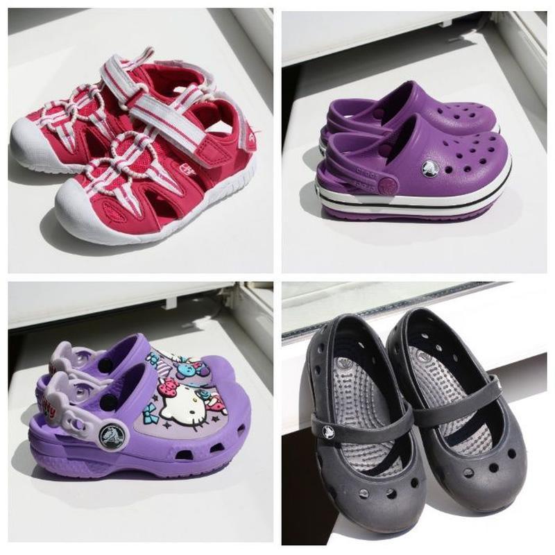 Детские крокси Crocs Hello Kitty сандалики Clarks 21-22 размер