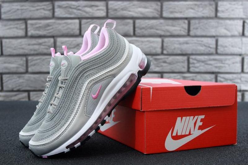 Женские кроссовки nike air max 97 gray pink. - Фото 8