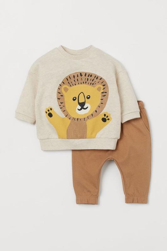 Трикотажный детский костюмчик - топ и штанишки львенок нм для ...