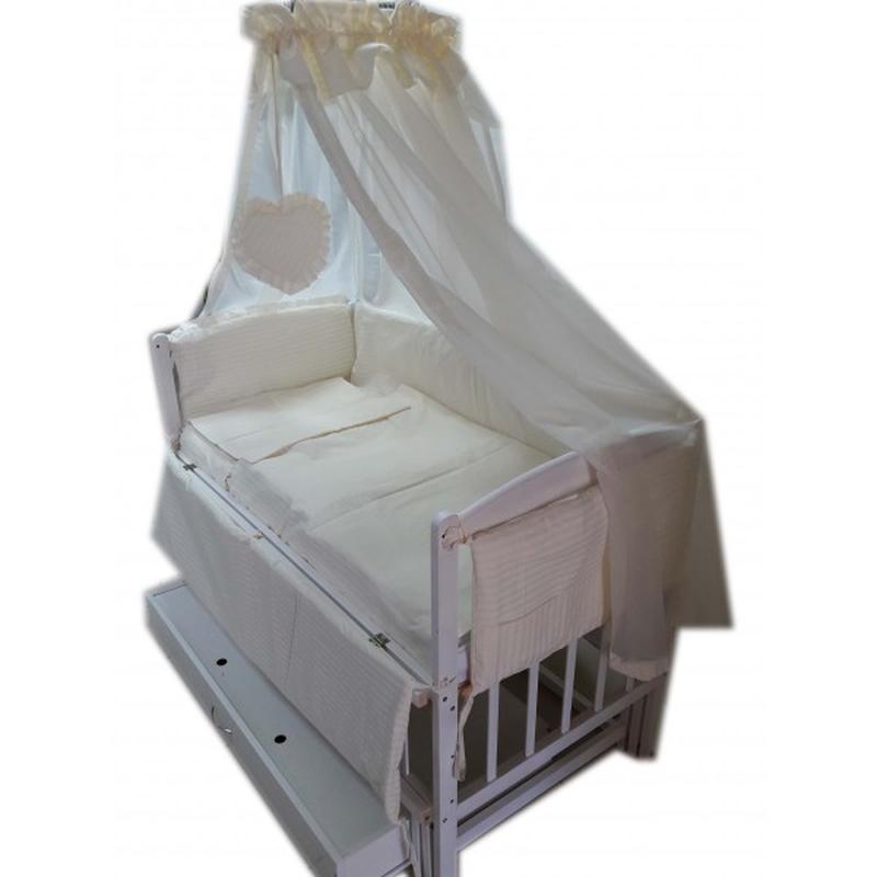 Акция! Комплект для сна! Кроватка маятник, матрас кокос, постель.