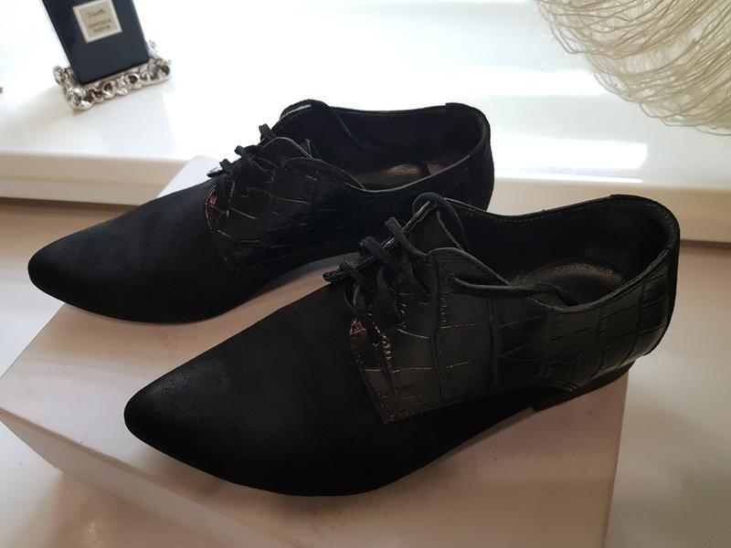 Туфли натуральная замша и кожа - Фото 3