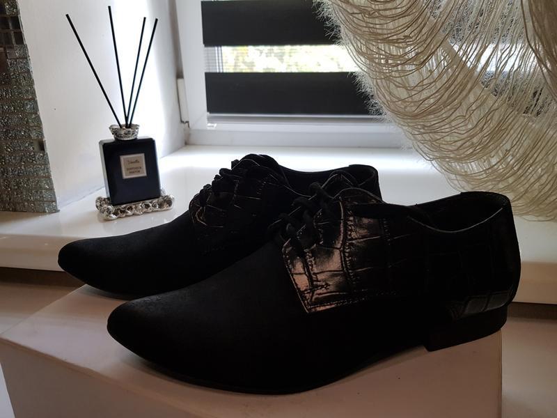 Туфли натуральная замша и кожа - Фото 2