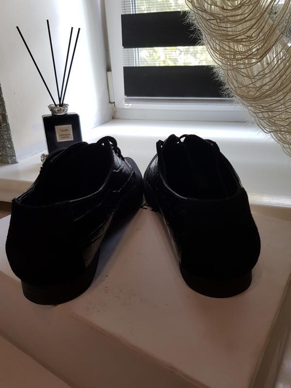 Туфли натуральная замша и кожа - Фото 5