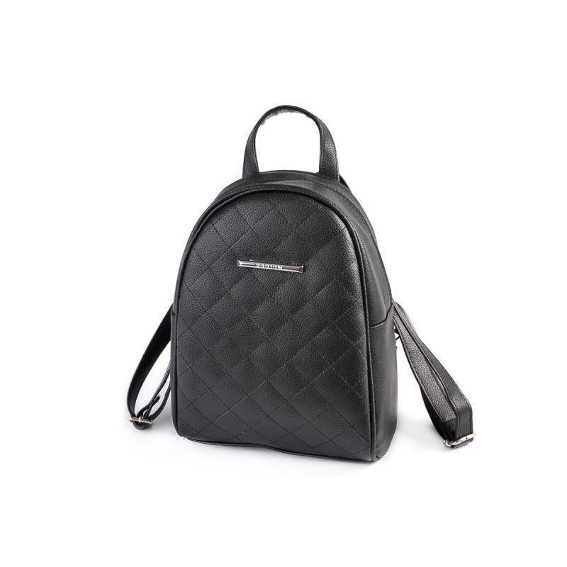 Маленький женский рюкзак из эко-кожи, мини рюкзак черный стеганый