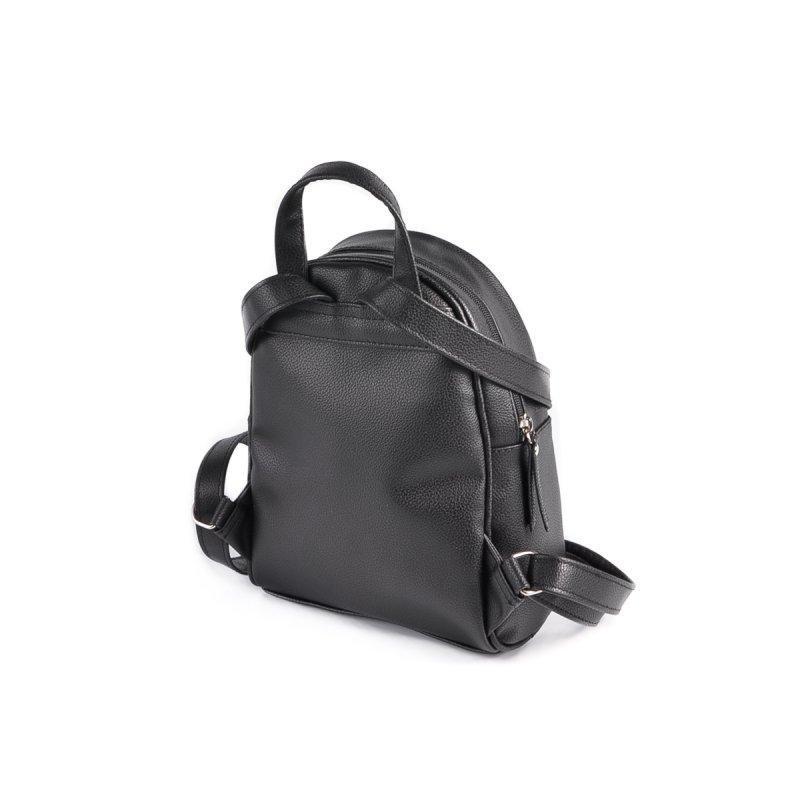 Маленький женский рюкзак из эко-кожи, мини рюкзак черный стеганый - Фото 2