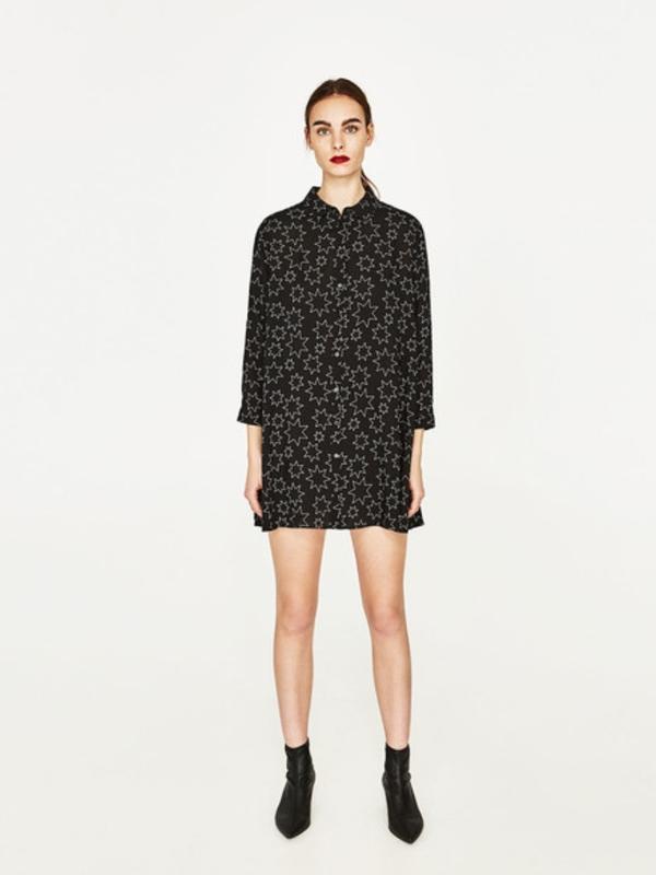 Плаття сорочка зірковий принт zara - Фото 3