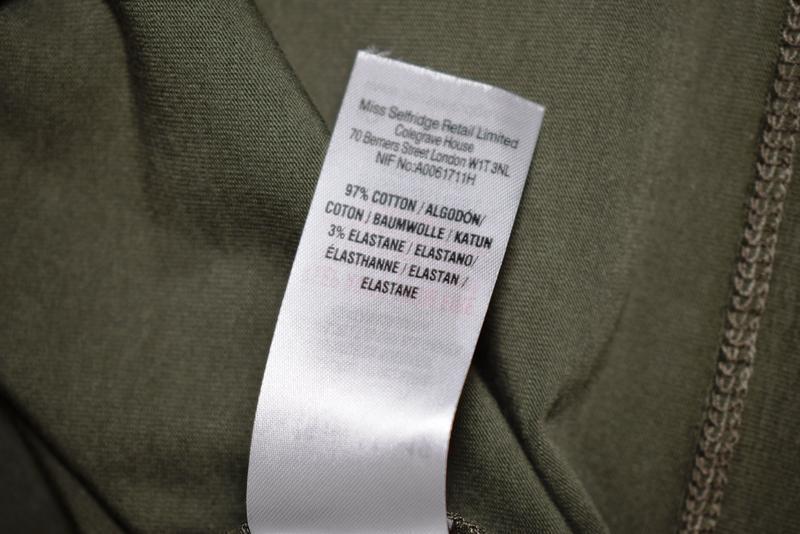 Платье миди сарафан по фигуре хаки miss selfridge, cotton - Фото 6