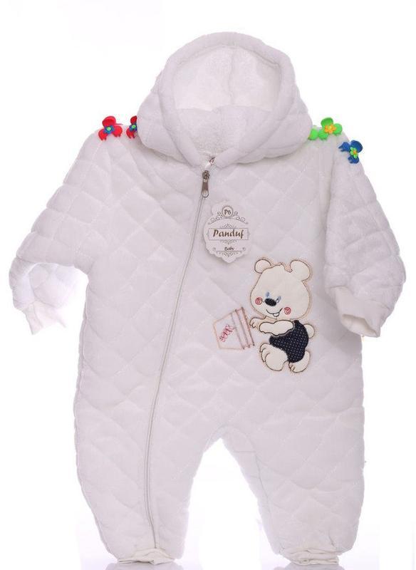 Зимний комбинезон для новорожденных Мишка