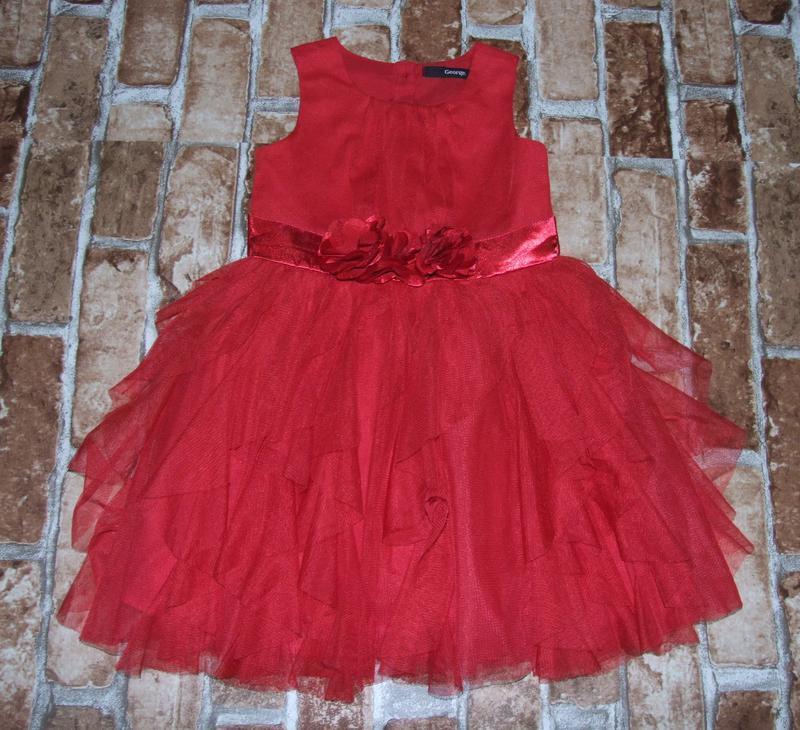 Платье нарядное 1-2 года george сток - Фото 4